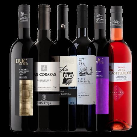 Karton červená vína